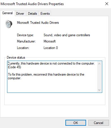 microsoft high definition audio drivers windows 10