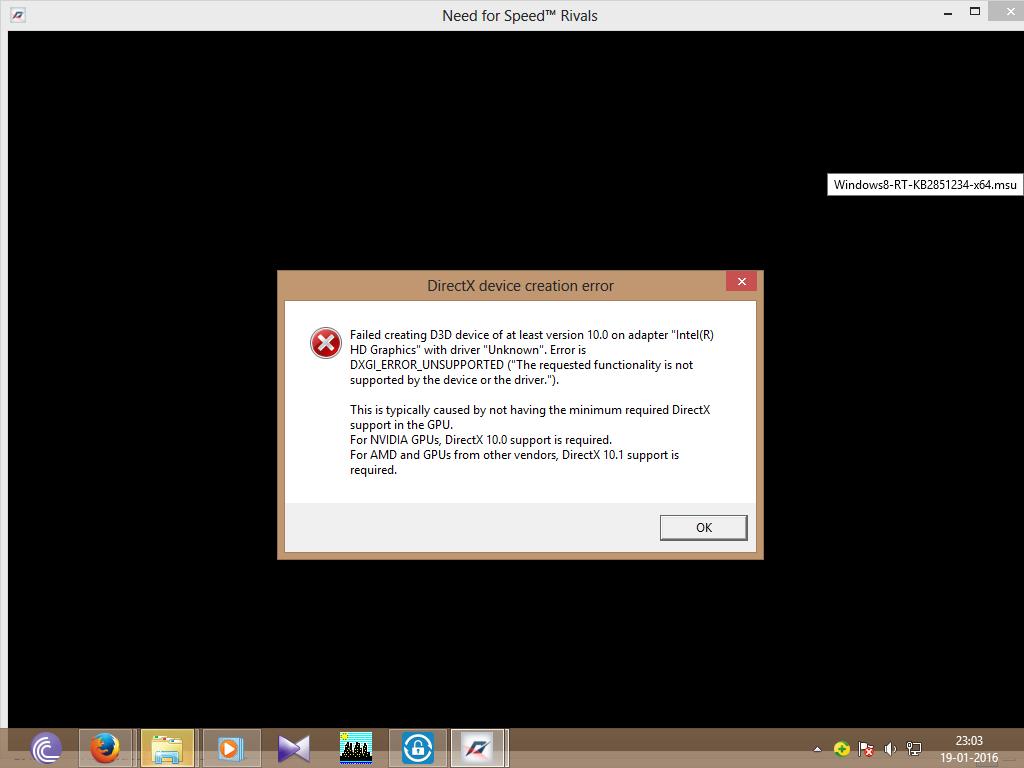 error dx11