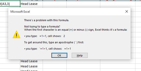 excel 2016 formula not working error message microsoft community