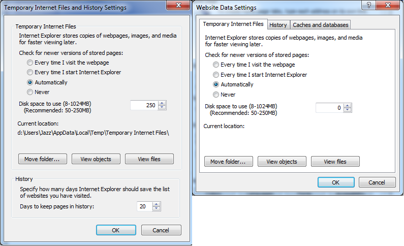 IE 10/11 breaks temp net files - possibly related to no - Microsoft