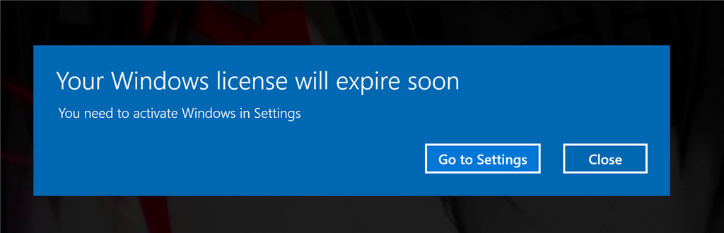 your windows license will expire soon win 8.1