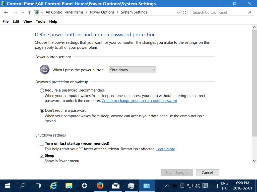 Hibernate not working with 14267 - Microsoft Community