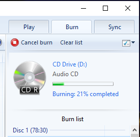 I am not able to burn to a CD-R no matter the software or disc