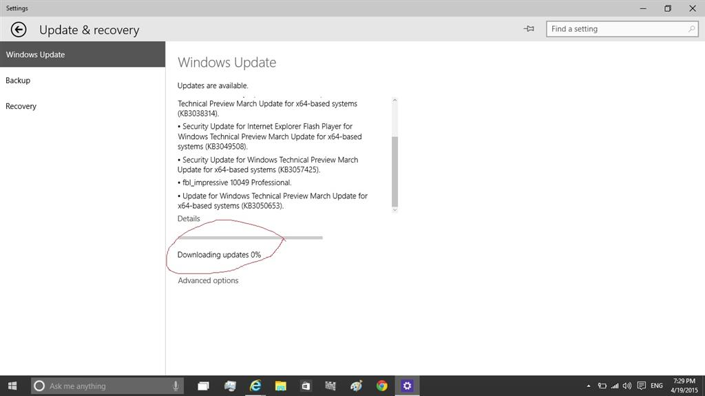Windows update stuck at 0 downloding microsoft community windows 10 technical preview build 10041 ccuart Gallery