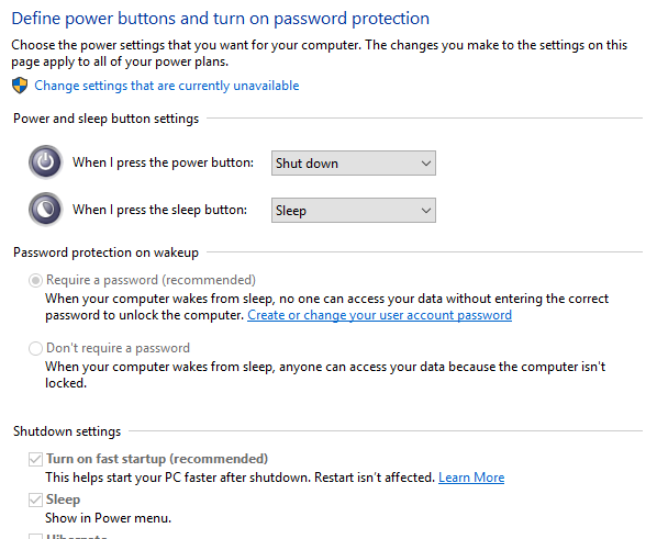 Password Protection on wakeup does not work in windows 10