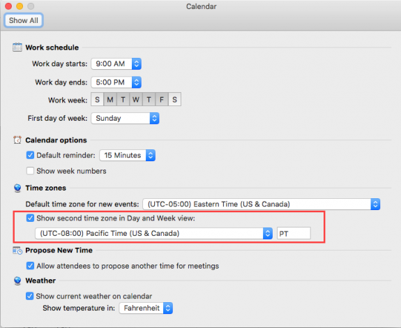 Sync calendar time zones for Outlook on PC & Outlook on