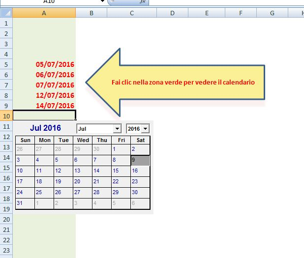 Inserire Calendario In Excel.Controllo Data Microsoft Community