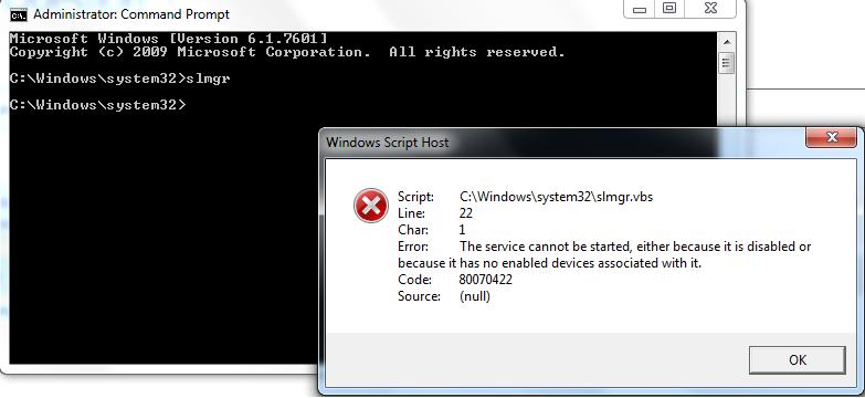 Slmgrvbs error microsoft community 80070422 windows script host image ccuart Image collections