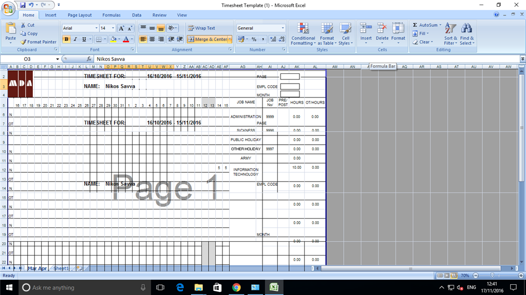microsoft excel 2007 for windows 10