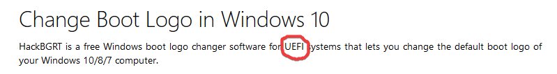 changing windows 10 boot logo - Microsoft Community