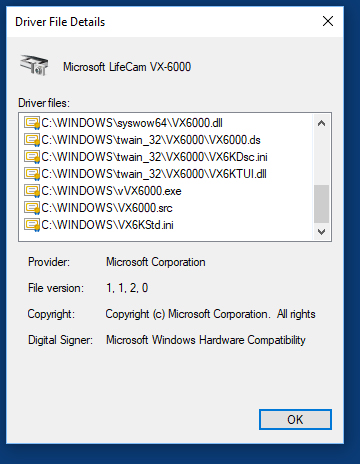 Lifecam VX-6000 No Longer Works in Windows 10 - Microsoft