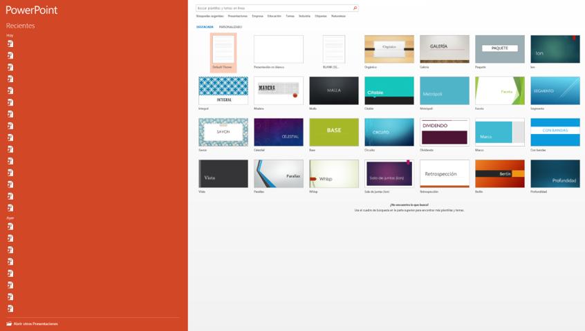 office 2016 desactivar pantalla de bienvenida de aplicaciones