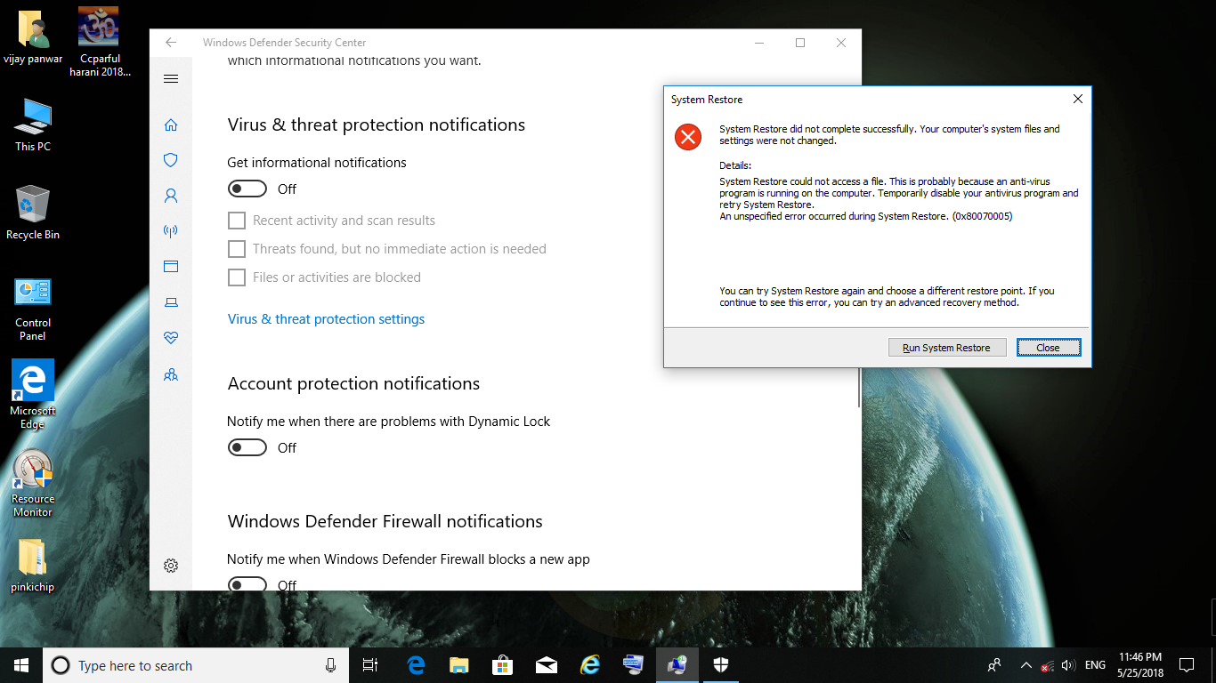 NOW A BIG PROBLEM WITH WINDOWS 10 1803 LATEST VERSION