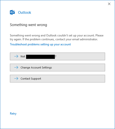 After enabling MFA on Office 365 I can't login to Outlook