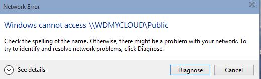 Kein Zugriff auf MyCloud Netzwerkspeicher