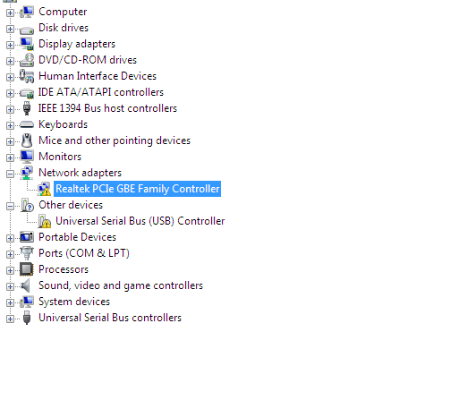 No LAN Adaptor Is Showing In Control Panel\Network And