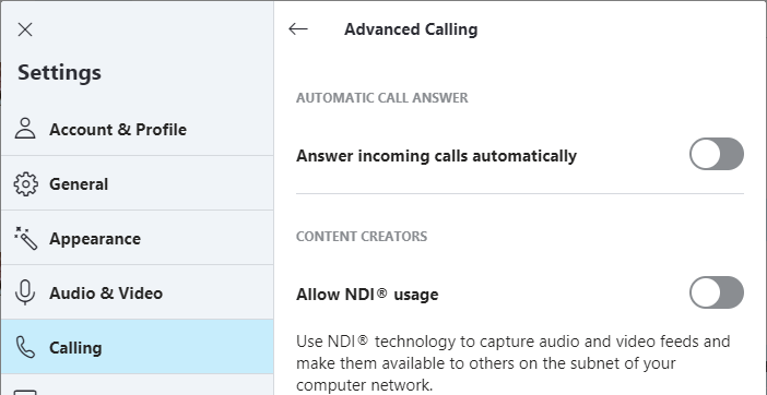 How to stop skype on mobile to automatically answer calls