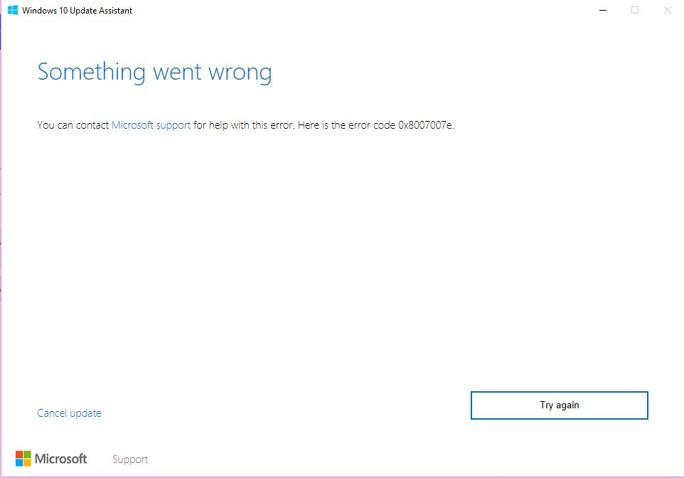 Windows 10 error 0x8007007e - Microsoft Community
