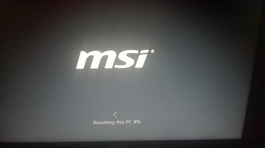 pc reset windows 10 stuck