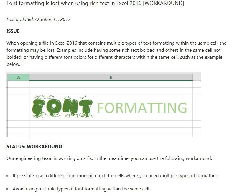 Font Size Keeps Changing In Excel