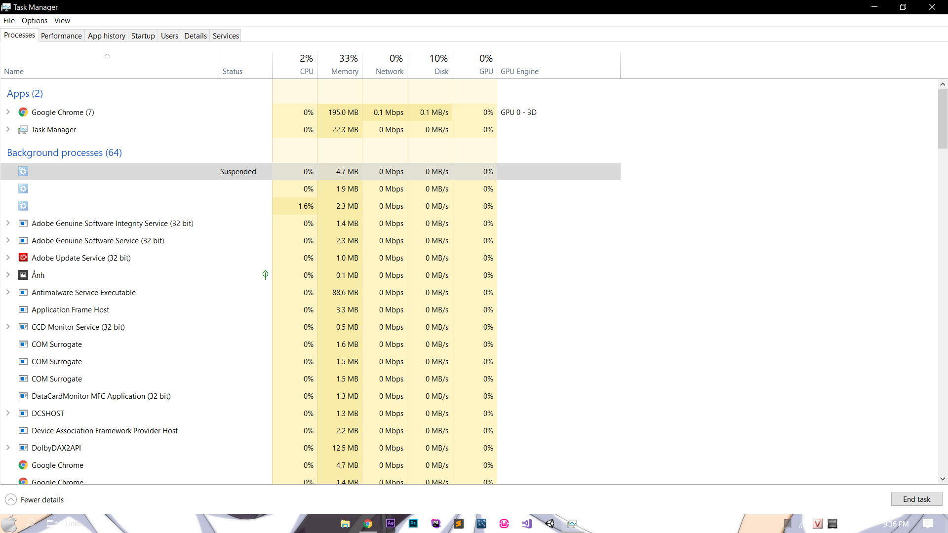Windows 10 100% CPU but Task Manager don't shows - Microsoft