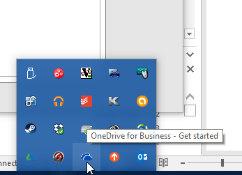 Syncing has stopped - OneDrive for Business - Office 2016