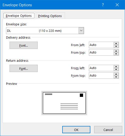 Mail Merge and envelope printing - Microsoft Community