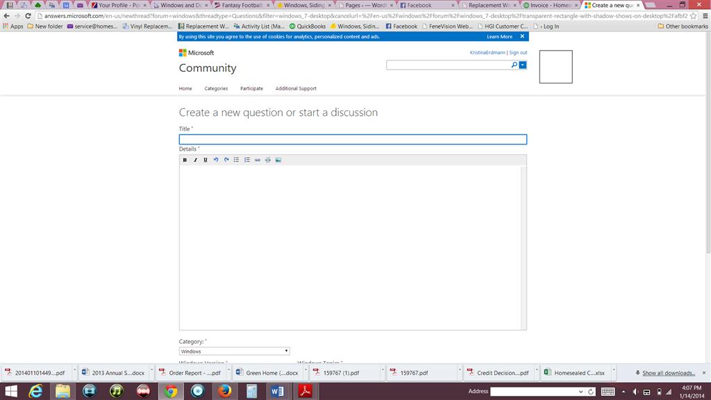 Transparent box on screen - Microsoft Community