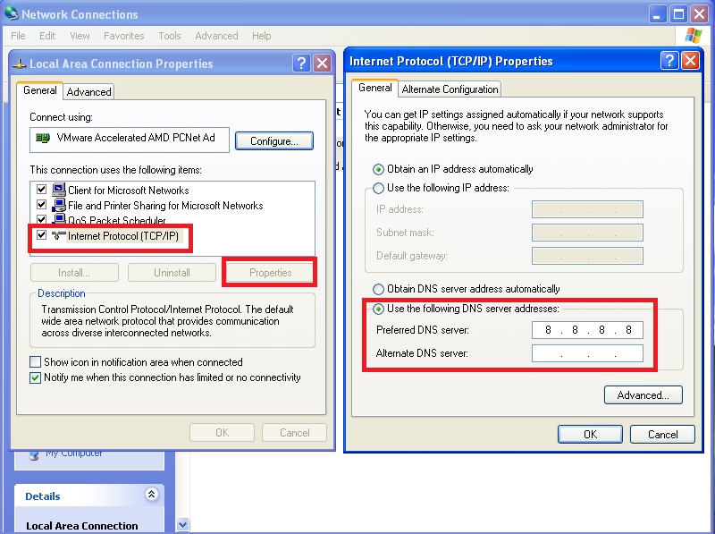 How to change IPv4 DNS server address to public DNS in Windows