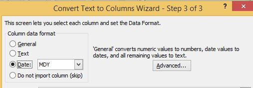 Converting PDF to Excel Produces Date Inconsistencies