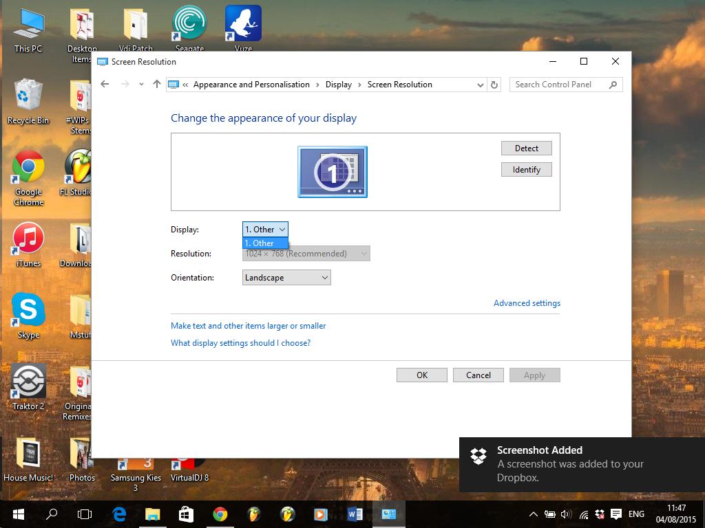 Windows 10 low resolution problem - Microsoft Community