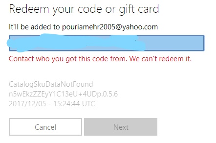 Can't redeem my minecraft win 10 gift code - Microsoft Community