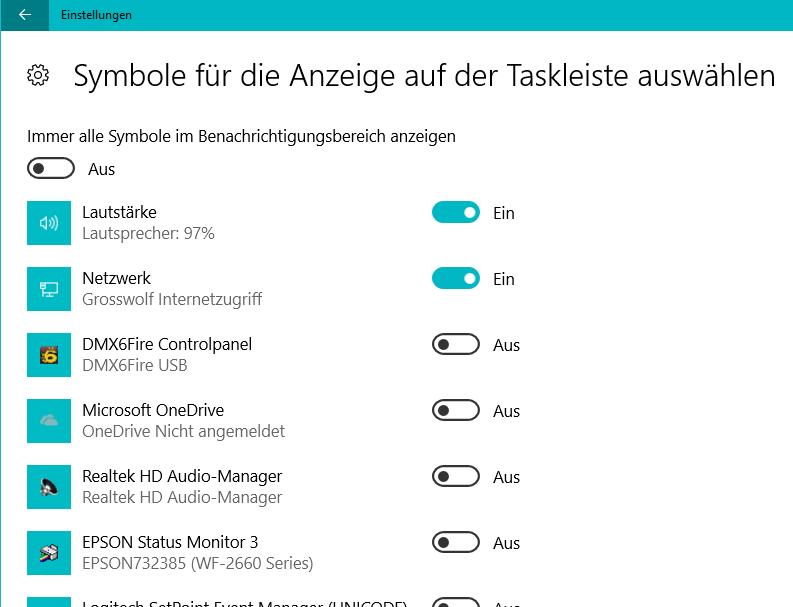 Lautsprechersymbol aus dem Systray verschwunden (Windows 10 ...