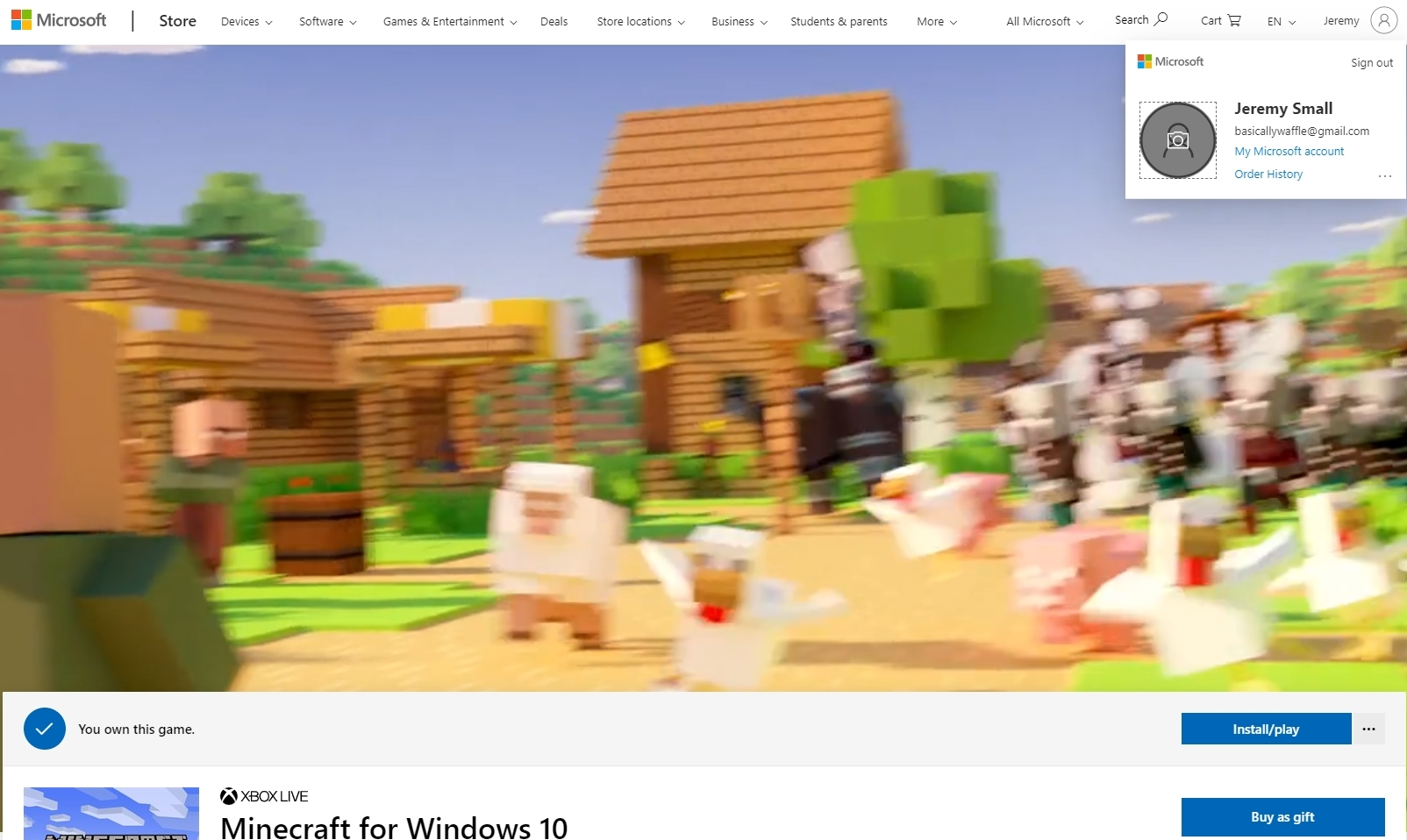 Minecraft Windows 9 Edition Install - Microsoft Community