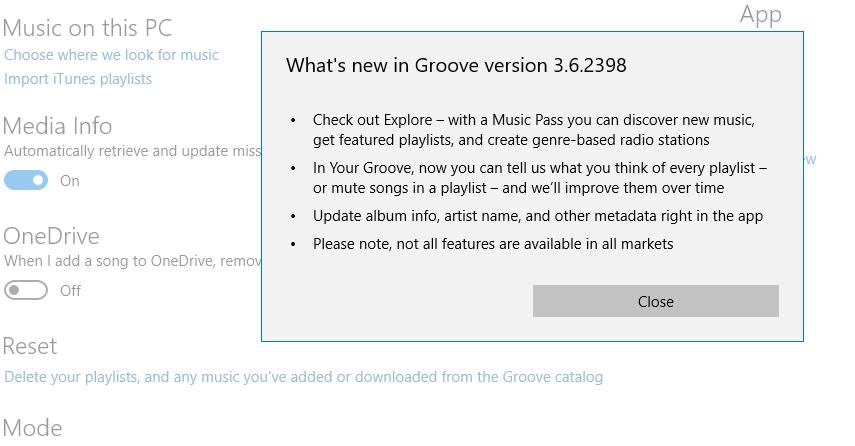 Edit metadata in Groove - Microsoft Community