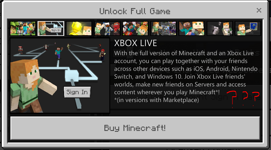 I can't log into xbox live on Minecraft Windows 10 Edition