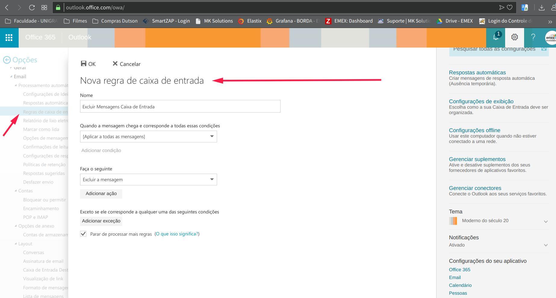 Regra de Limpeza Caixa de Entrada ( Email Exchange) - Microsoft ... 7eb7b89a63355