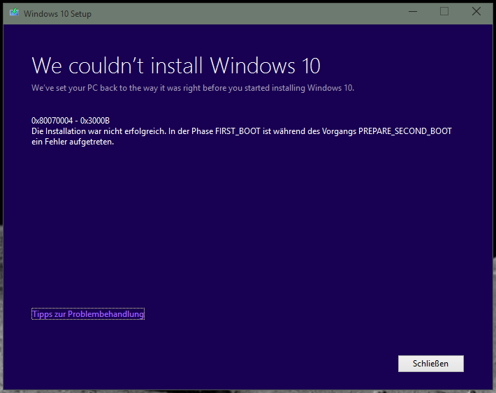 Upgrade from 10041 to 10074 error 0x80070004 microsoft community after the failed update to version 10041 i had made a fresh install of this version i have no third party anti virus program installed ccuart Choice Image