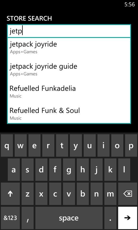 Jetpack Joyride isn't on windows market? - Microsoft Community