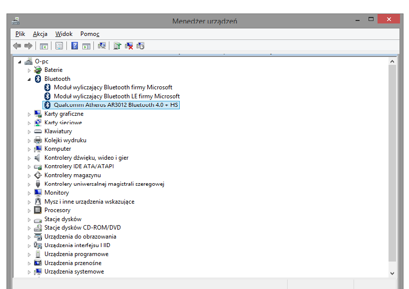 Atheros Bluetooth Driver Windows 8.1