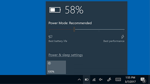 windows 10 battery icon missing taskbar