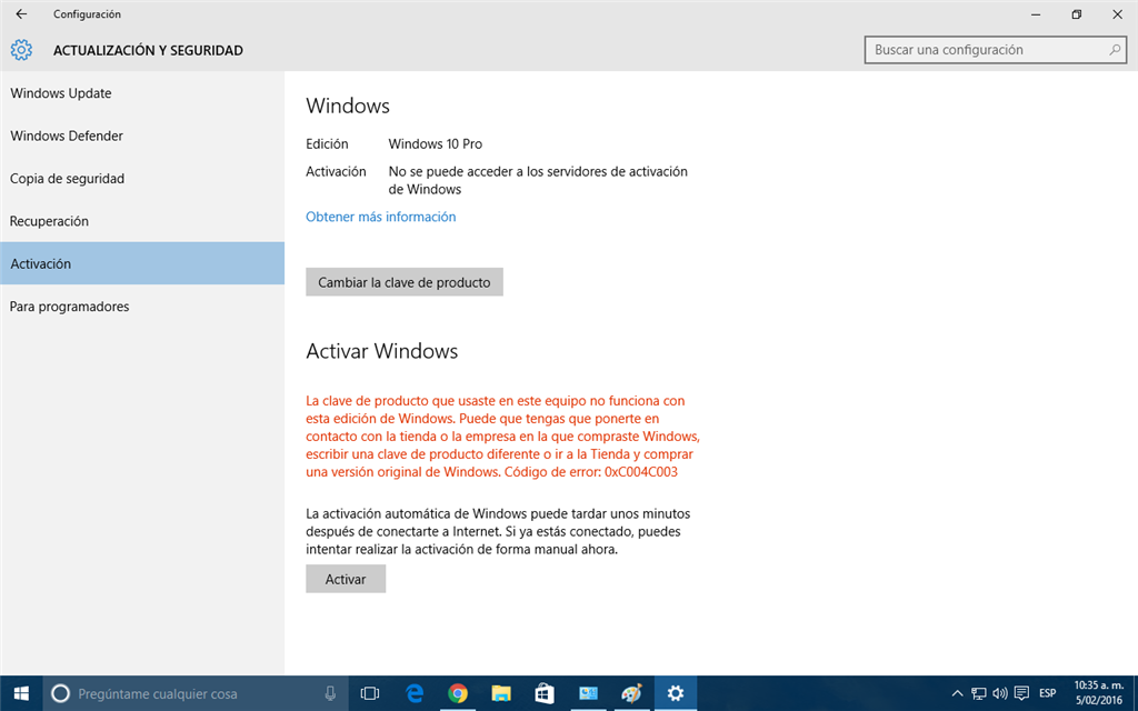 clave para activar windows 10