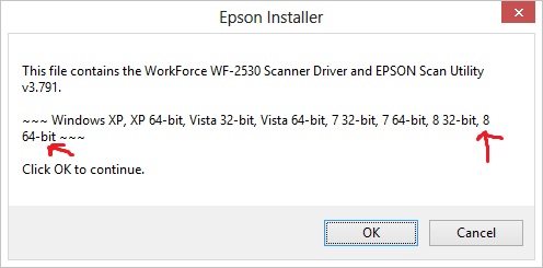 Epson workforce wf-2530 scanner driver won't install microsoft.