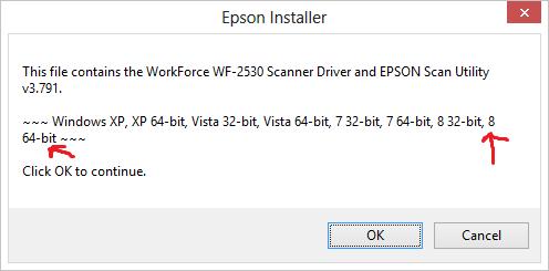 Epson Workforce WF-2530 scanner driver won't install - Microsoft