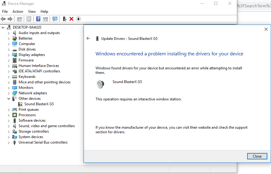 Windows Encountered A Problem Installing The Driver Software For Your Microsoft Community