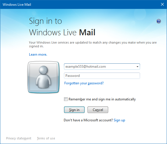 unable to sign in to windows live mail microsoft community