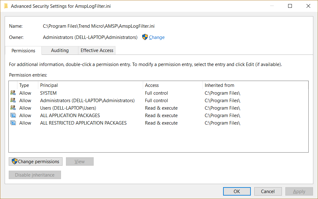 Give permissions to files and folders in Windows 10