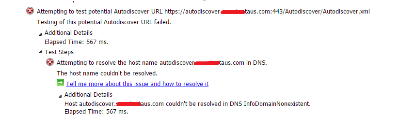 outlook 2010 autodiscover fails for office365 account microsoft