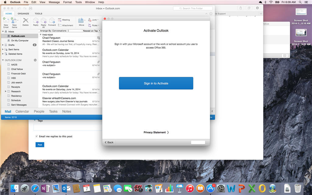 Office 365 won't activate Outlook for Mac - Microsoft Community
