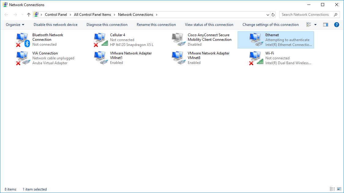 Active Ethernet connection disables Cellular Modem - Microsoft Community